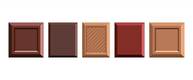 Chocoladereep ontwerp illustratie geïsoleerd op een witte achtergrond
