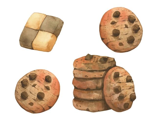 Chocoladeschilferkoekjes en mooie koekjes
