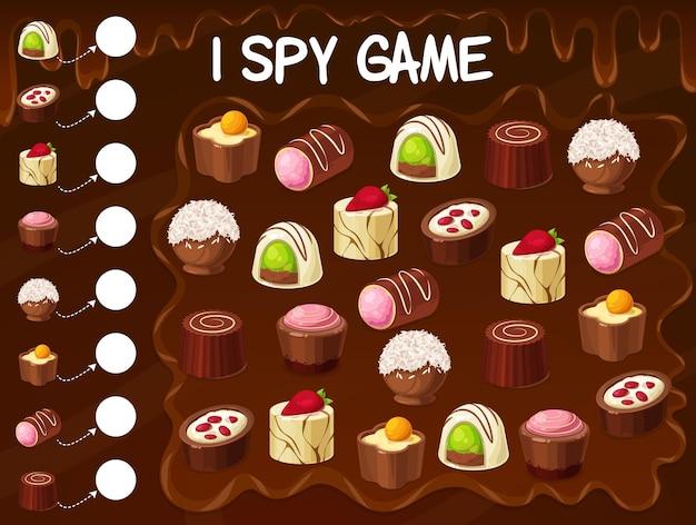 Chocoladetruffel, notensnoep, snoep spionagespel