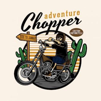 Chopper adventure in woestijn