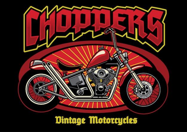 Chopper motorfietsen vintage