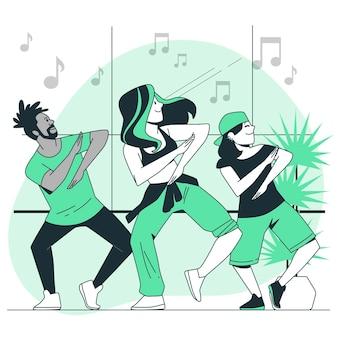 Choreograaf concept illustratie