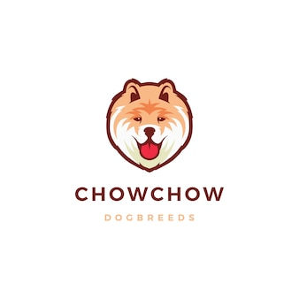 Chow chow hond logo pictogram illustratie