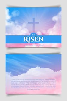 Christelijk religieus ontwerp voor pasen.