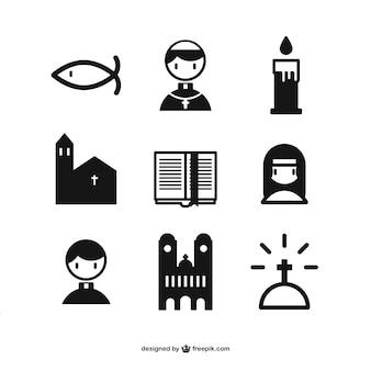 Christelijke pictogrammen collectie