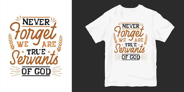 Christen en religie citeert typografie t-shirt design poster.