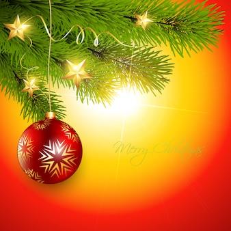 Christmas ball achtergrond