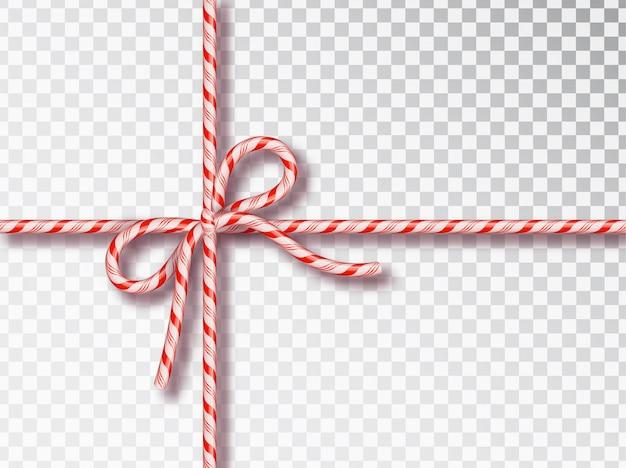 Christmas candy bow geïsoleerde set.