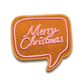 Christmas cookie, geïsoleerd op wit