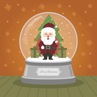 Christmas crystalball kerstman