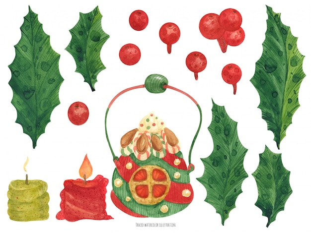 Christmas elf factory leuke items, kaarsen en hulst