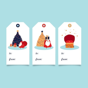 Christmas gift tag collection - santa claus