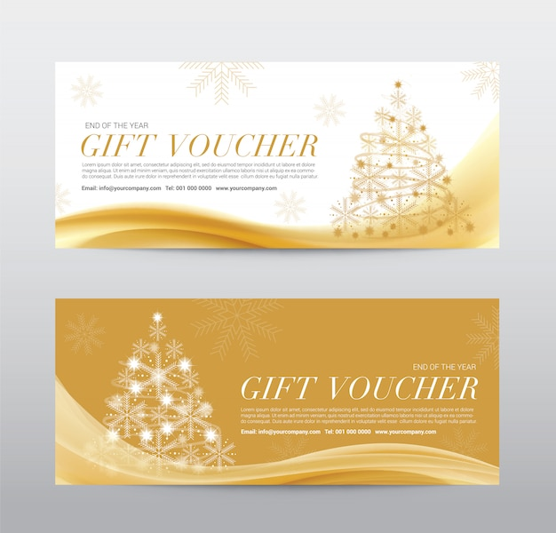 Christmas gift voucher coupon discount, achtergrond abstract