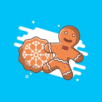 Christmas ginger bread illustraties.