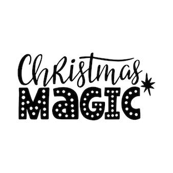 Christmas magic citaat belettering