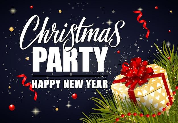 Christmas party belettering en geschenkdoos