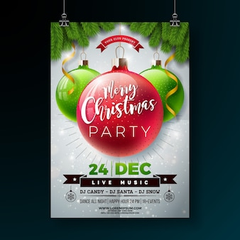 Christmas party flyer illustratie
