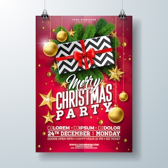 Christmas party flyer illustratie