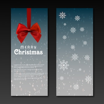 Christmas party invitation pass op donkere grijze achtergrond