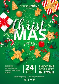 Christmas party poster klaar om te printen
