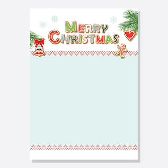 Christmas santa brief leeg sjabloon a4 ingericht