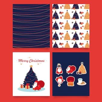Christmas santa claus - card