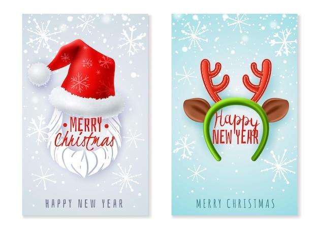 Christmas santa hat verticale banners