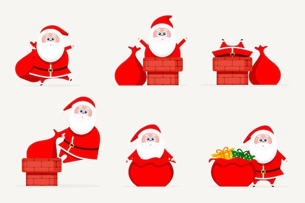 Christmas santa set moderne karakters