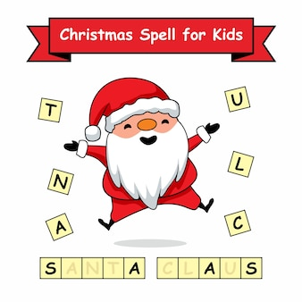Christmas spell word for kids games