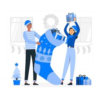 Christmas stocking concept illustratie