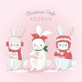 Christmas style_bunny
