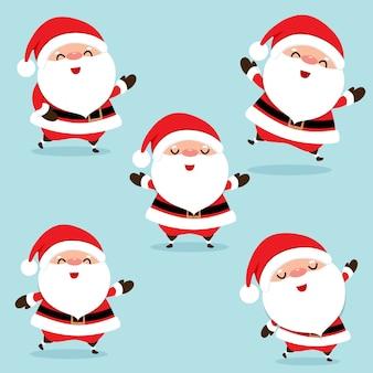 Christmas wenskaart met kerst santa claus.
