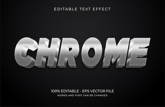 Chrome bewerkbaar teksteffect premium vector