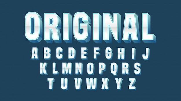 Chrome blue bold typography design