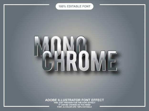 Chrome grafische stijl illustrator bewerkbare typografie