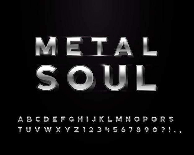 Chromen metalen letters met een aantal door gloed bewerkte transparantieobjecten