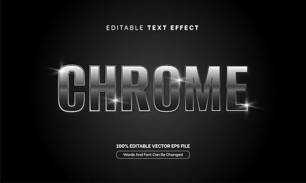 Chroom zilver teksteffect woorden lettertype bewerkbaar teksteffect metaal zilver