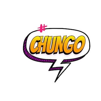 Chungo shit wtf hashtag spaans gekleurde komische tekst collectie geluidseffecten pop-art stijl toespraak