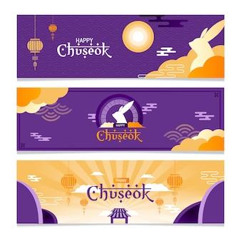 Chuseok banner minimalistische collectie