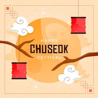 Chuseok festival geïllustreerd