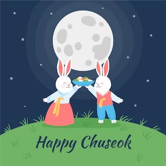 Chuseok festival handgetekend