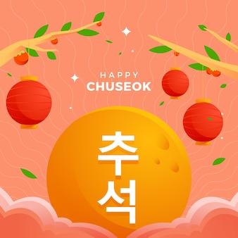 Chuseok festival illustratie