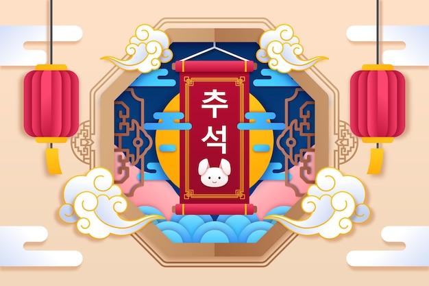 Chuseok in papieren stijl