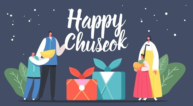 Chuseok tteok koreaanse traditie aziatische thanksgiving dag vakantie viering concept
