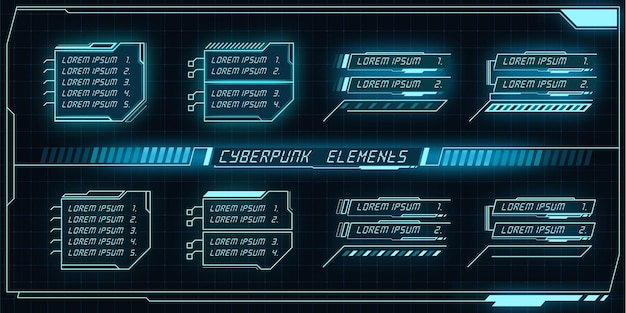 Ciberpunk elementen set