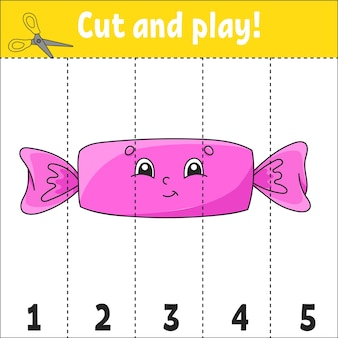 Cijfers leren 15 knippen en spelen werkblad educatie