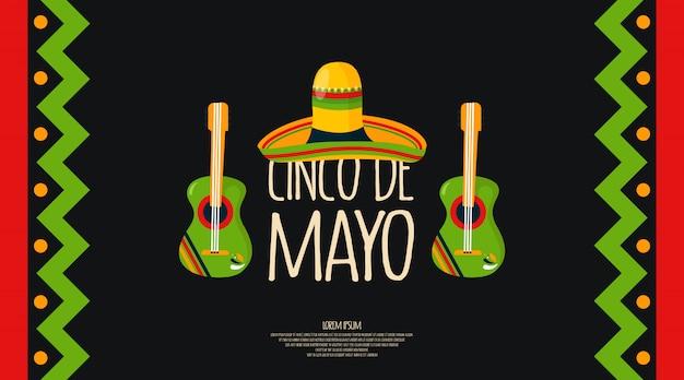 Cinco de mayo achtergrond illustratie