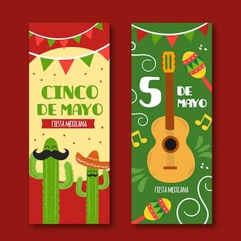 Cinco de mayo banners sjabloon voor evenement