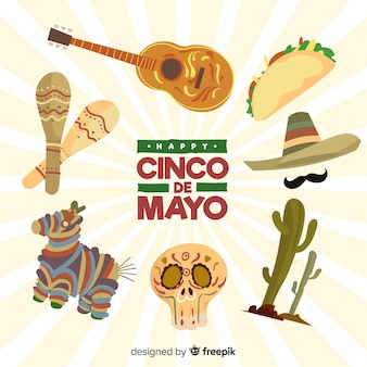 Cinco de mayo element collectie