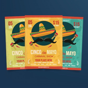 Cinco de mayo sjabloon folder